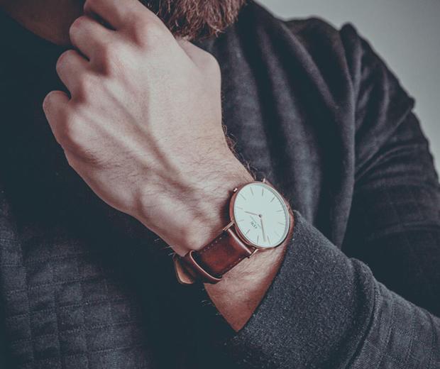 Montre daniel wellington homme bracelet marron