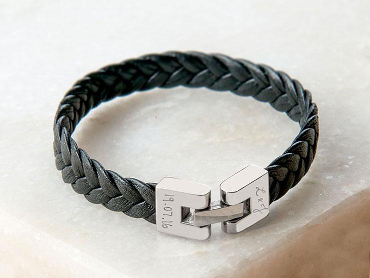 bracelet-cuir-tresse-personnalise-merci-maman-2