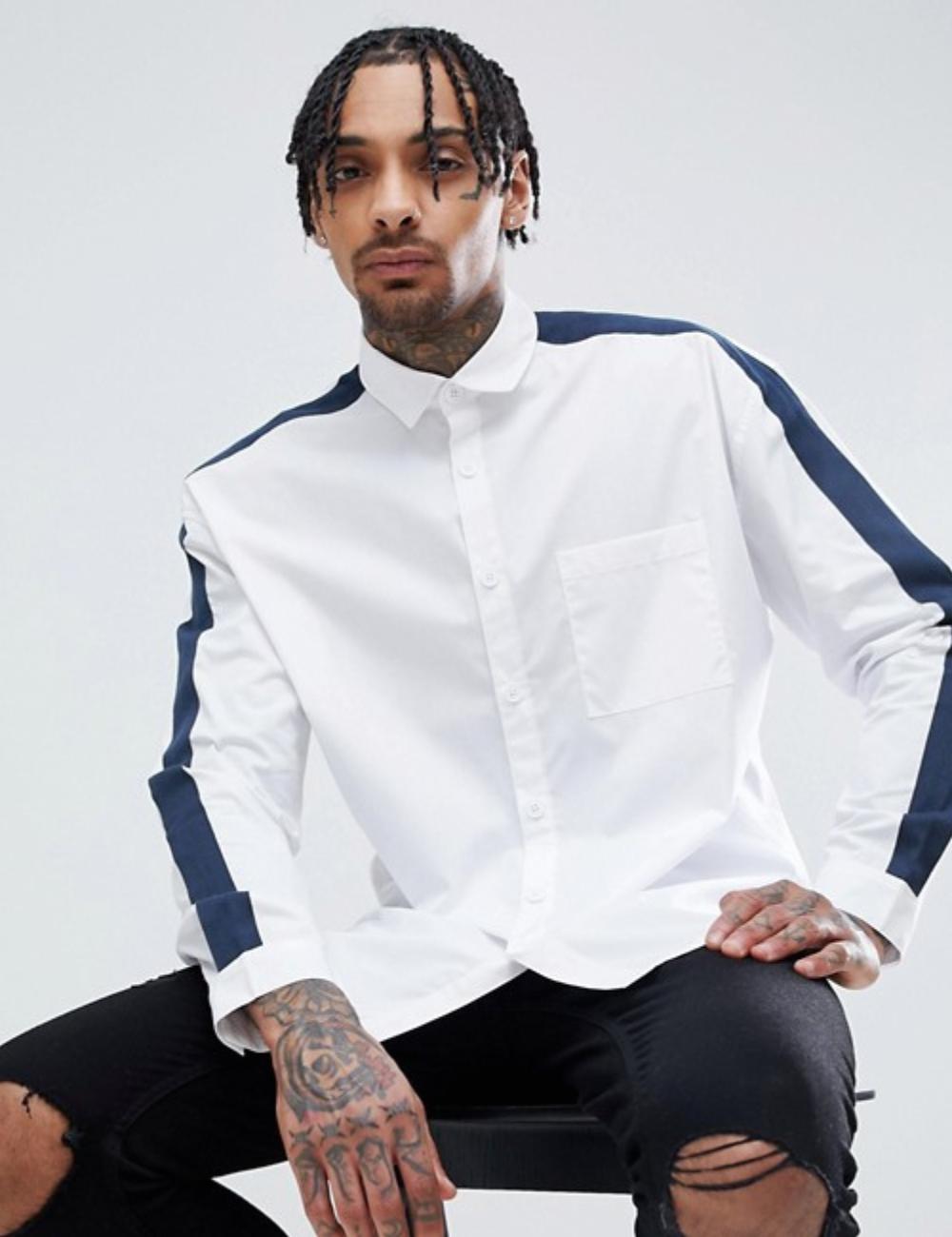 chemise-blanche-asos-bandes-bleues